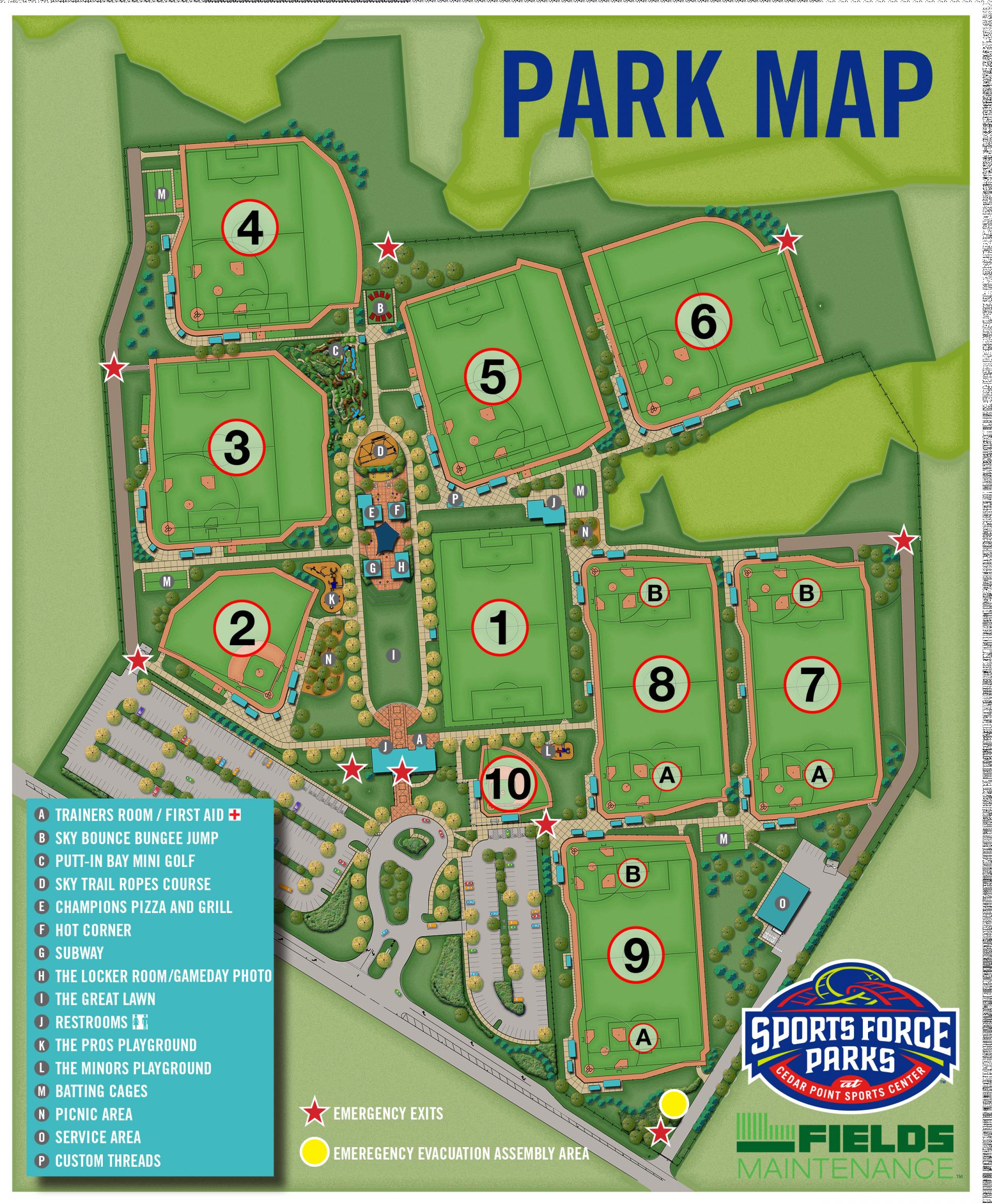 Map Of Us Baseball Parks Park Maps Fort Pulaski National Monument - Us map of baseball stadiums