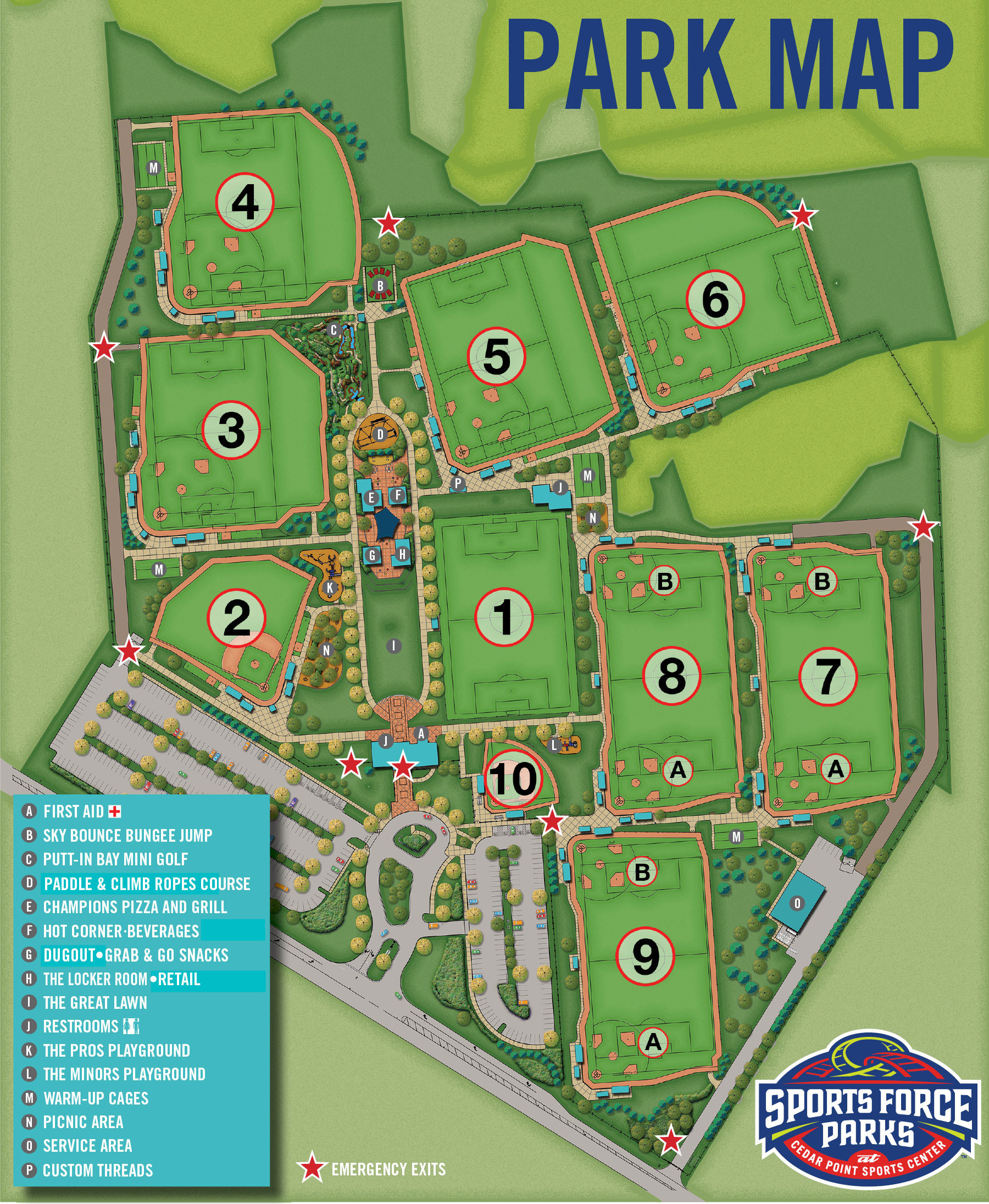 Sports Force Parks Map | Sports Force Parks at Cedar Point ...